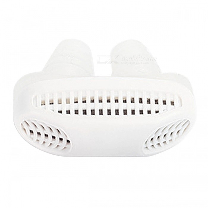 Buy Mini Anti Snore Silicone Relieve Snoring Device with PP Box - White with Litecoins with Free Shipping on Gipsybee.com