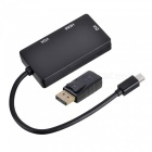 Cwxuan Mini DisplayPort / DisplayPort to HDMI / VGA / DVI Adapter - Black