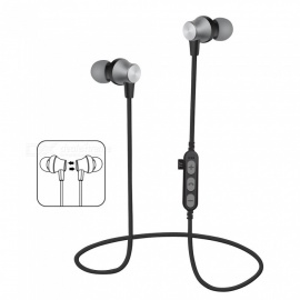 Bluetooth V4.2 Headphones In-Ear Wireless Earbuds Magnetic Sweatproof Stereo Earphones with Microphone for Sport