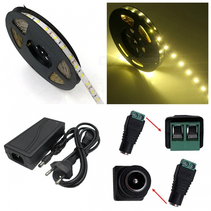 ZHAOYAO-IP65-Waterproof-72W-Warm-White-5630-SMD-300-LED-Strip-Light-with-5A-EU-Power-Charger-2b-DC-Adapter-5M