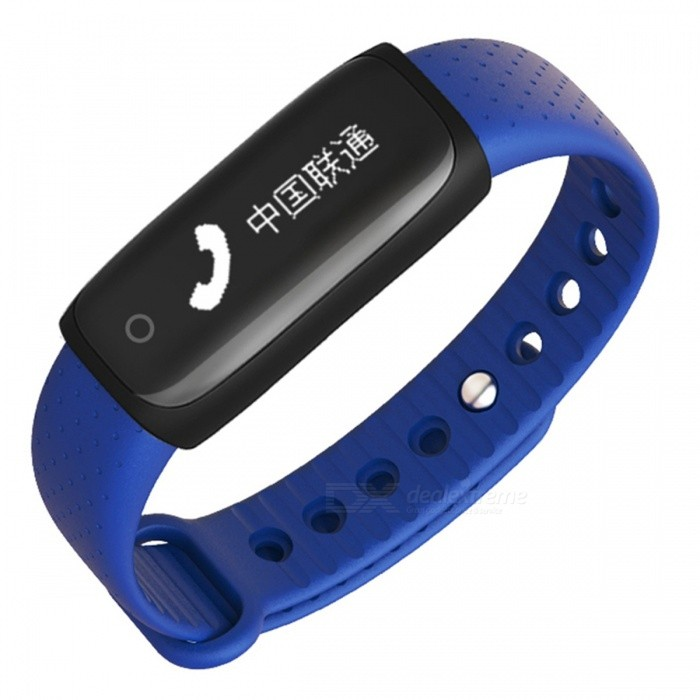"Y02s 0.91"" Smart Bracelet with Blood Pressure Heart Rate Monitor, Step Counter - Blue"