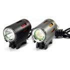 ZHAOYAO L2 Rechargeable Bike Lamp Headlight for Night Cycling - Grey, Yellow