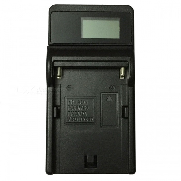 Ismartdigi FM50 LCD USB Mobile Camera Battery Charger for Sony NP-FM50 - Black