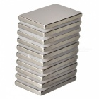 30mm*20mm*3mm Rectangle Super Strong NdFeB Magnet - Silver (10 PCS)