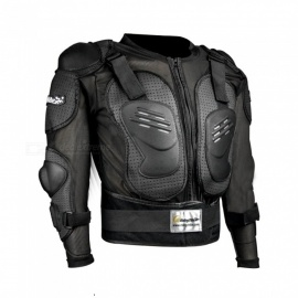 Riding Tribe HX-P15 Long-Sleeved Safety Body Armor Jacket for Outdoor Motorcycle Riding - Black
