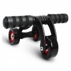 Premium-Portable-Three-Wheeled-Abdominal-Chakra-Body-Muscle-Builder-Black