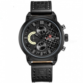 NAVIFORCE-9068L-Mens-Sports-Army-Leather-Wrist-Quartz-Watch
