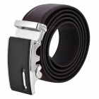 Mens-Fashion-Automatic-Buckle-Second-Layer-Cow-Leather-Belt-Brown