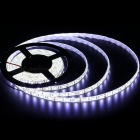 ZHAOYAO IP65 Waterproof 144W DC 12V 10M 5050SMD-600LEDs White LED Strip Light with 10A US Plug Charger + DC Connector