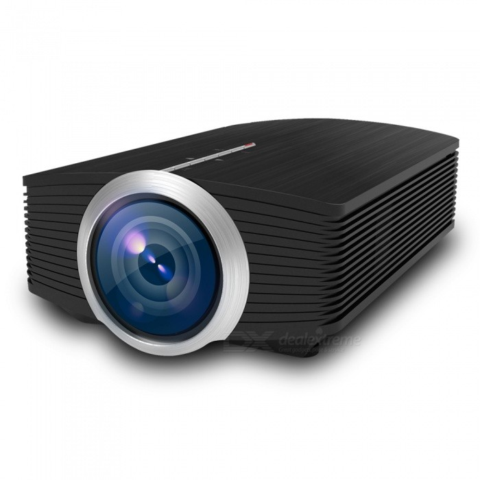 YG500 Portable Mini LCD Projector for Home Cinema - Black