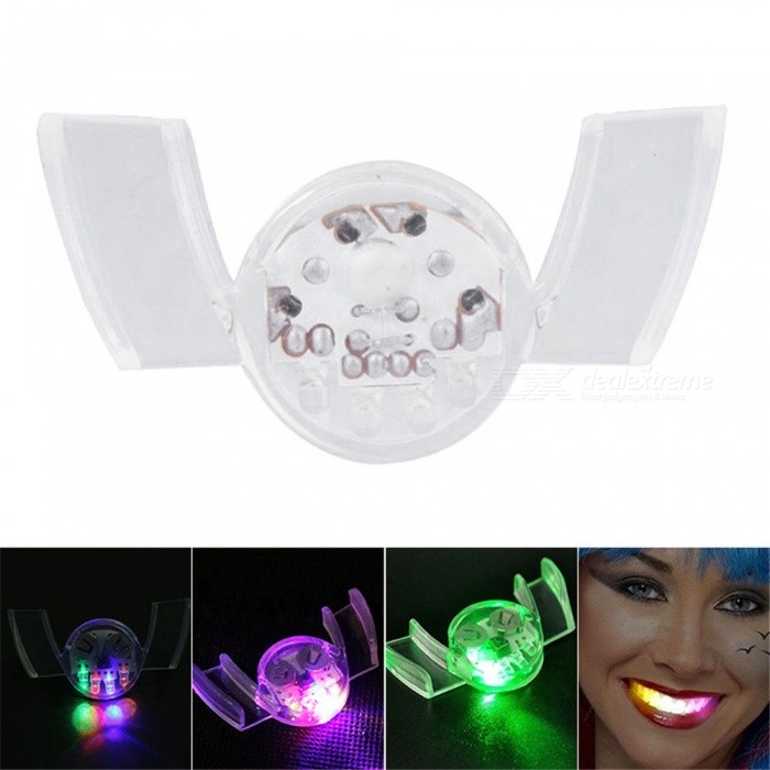 YWXLight RGB Vampire Glow Braces Flashing Teeth Stick for Halloween Makeup Party
