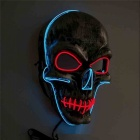 YWXLight Halloween Horror Party Skull Head LED Lighted Mask - Blue  + Red (DC 5V)