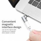 Baseus Type-C To Type-C Magnetic Elbow Adapter Converter for Macbook Nexus 5X 6P OnePlus 2 3 - Gray