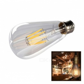E27 ST64 8W Warm White COB LED Filament Retro Edison Bulb