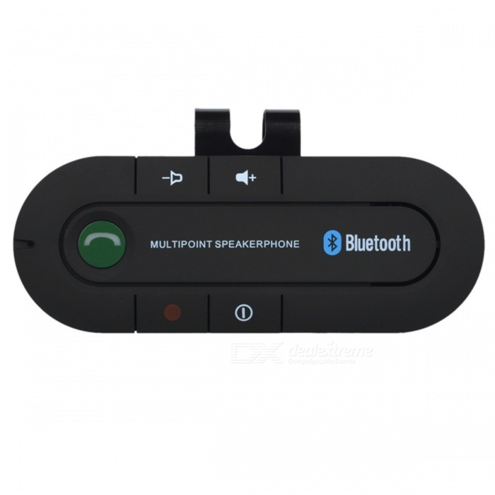 Buy Car Sunvisor Bluetooth V4.1 Speakerphone, Supports Hands-Free Call, Music Play - Black with Litecoins with Free Shipping on Gipsybee.com
