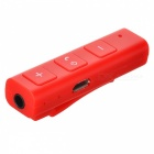 Universal Bluetooth Car Kit Hands-Free 3.5mm AUX Audio Music Receiver Adapter - Red