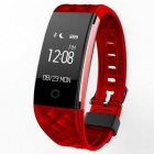 S2-096-OLED-Bluetooth-Smart-Band-Wristband-with-Heart-Rate-Monitor-Red