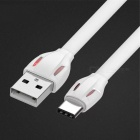 2.1A USB Type-C Fast Charge Charging Data Sync Cable for Macbook Xiaomi and More Devices - White