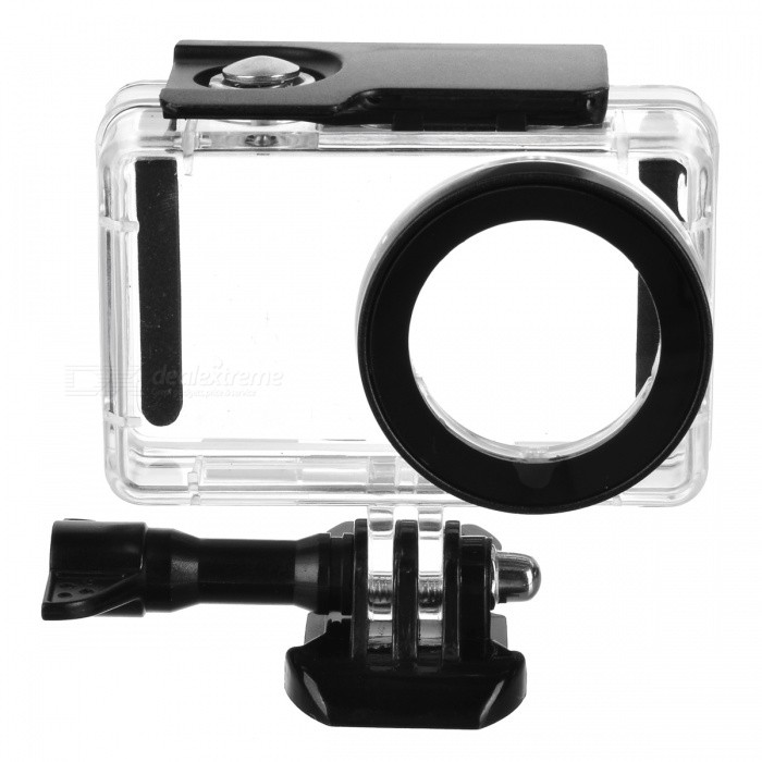 Waterproof Shell Case for Xiaomi Mijia CameraOther Sports Gadgets<br>Form  ColorBlack + TransparentModelA1Quantity1 DX.PCM.Model.AttributeModel.UnitMaterialOrganic glassPacking List1 x Camera Case<br>