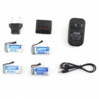 JJRC X4A-A16 4-in-1 Charger Set with Four 3.7V 500mAh 20C Lithium-ion Batteries for JJRC H43 RC Quadcopter