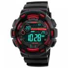 SKMEI 1243 50M Waterproof Men's Digital Outdoor Sports Watch with Chronograph / LED Display / Alarm Clock - Red