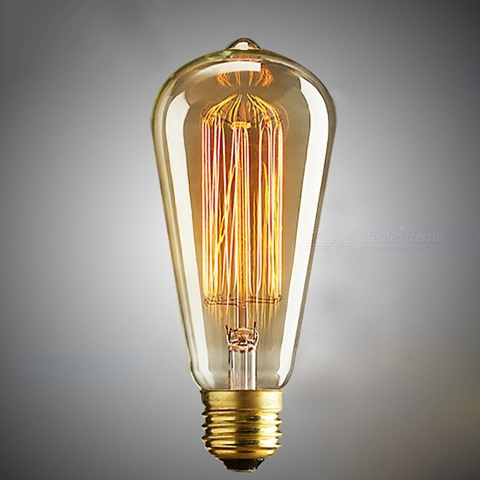 ST64 E27 40W Warm White Light Vintage Edison Bulb Filament Lamp Lampada for Home Decoration (110V)