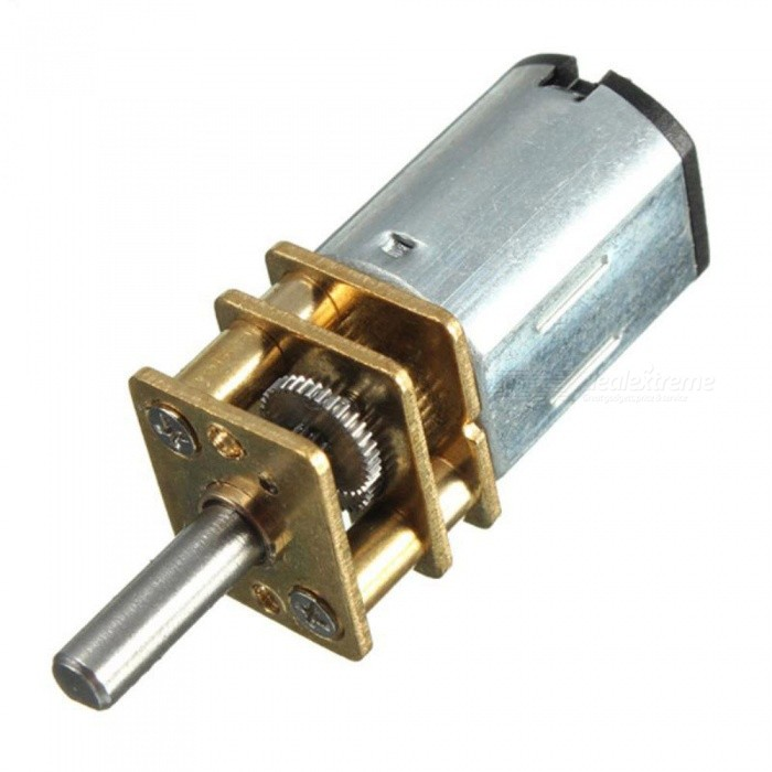 DC 6V Speed Reduction Motor 200RPM with Metal Gearbox Replacement N20 RC Car DIY
