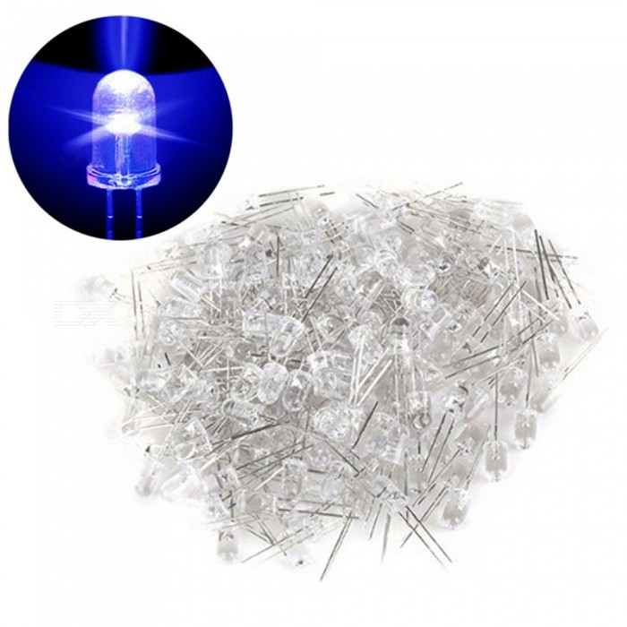 500Pcs-Q55mm-8000-10000MCD-3500K-In-Line-LEDs-(3034V)