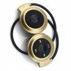 Sports Wireless Bluetooth Neckband Headset Stereo Headphones with Microphone for Huawei / Oppo / IPHONE - Golden + Black