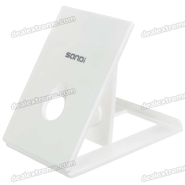 Compact Portable Plastic Desktop Stand Holder for   Ipad/Iphone/E-Book - White