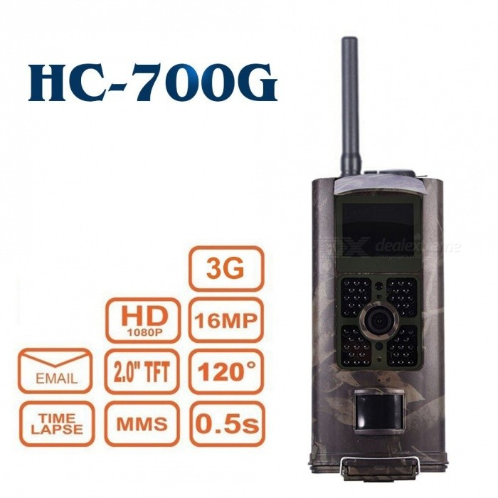"HC-700G 3G SMS SMTP 16MP HD 1080P 2.0"" Color LCD Display Wildlife Hunting Trail Camera with Time Lapse, Infrared Night Vision"