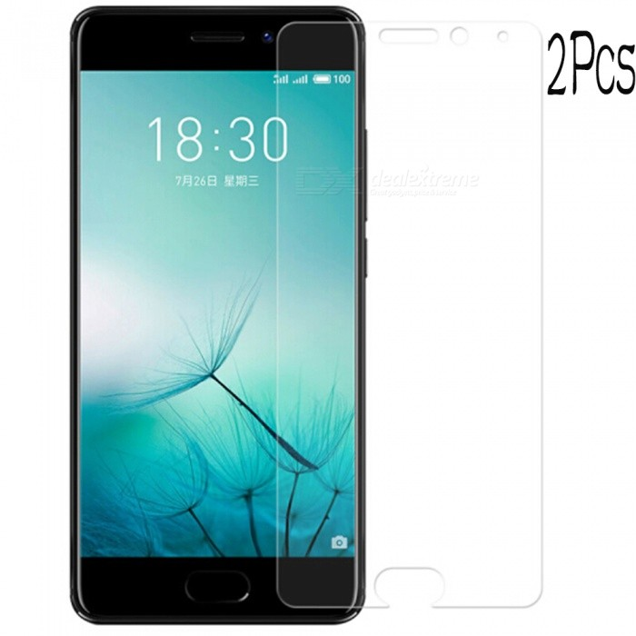 Naxtop Tempered Glass Screen Protector Film Guard for Meizu Pro 7 - Transparent (2PCS)