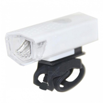 300LM USB Rechargeable LED Bicycle Flashlight Headlight - White