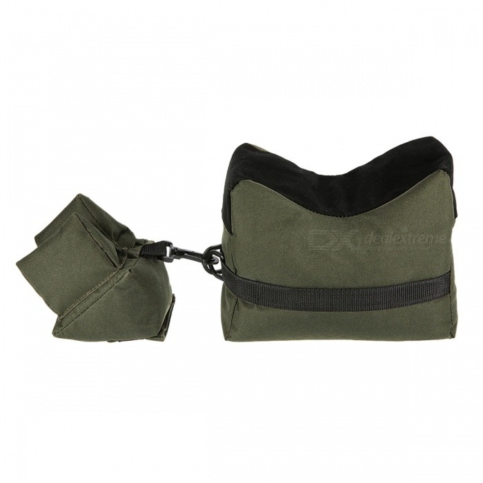 Buy Rifle Gun Front Rear Shooting Bag Sandbag for Hunting Target - Green with Litecoins with Free Shipping on Gipsybee.com