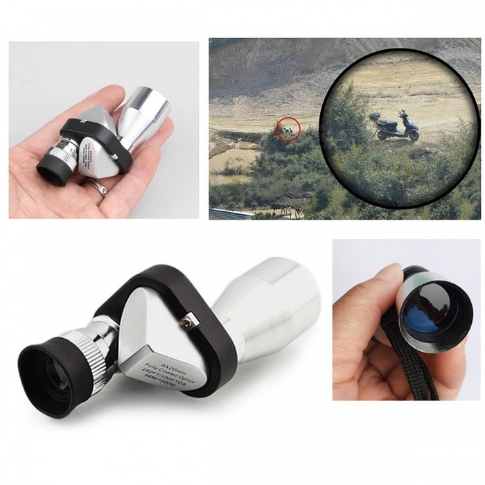 Buy Mini 8X 20mm HD Pocket Corner Optical Monocular Telescope Microscope Eyepiece for Outdoor Hiking Climbing Wilderness Expedition with Litecoins with Free Shipping on Gipsybee.com