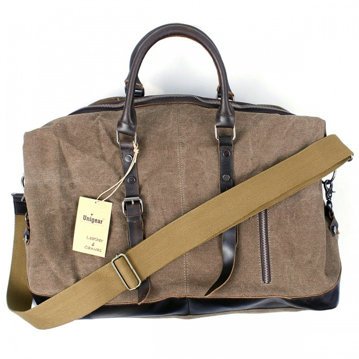 Oversized-Foldable-Canvas-Leather-Luggage-Handbag-Tote-Bag-for-Travel-Outdoor-Coffee-(L)