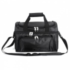 840D Heavy-Duty Polyester Large Soft Cooler Bag with Two Insulated Compartments, Removable Shoulder Strap - Black