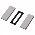 50mm*20mm*5mm Rectangle NdFeB Neodymium Magnet for DIY - Silver (2 PCS)