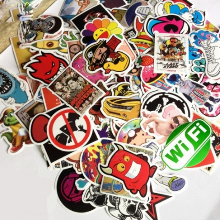 100Pcs Unique Vintage Sticker for Laptop Luggage Car Skateboard Decoration - Multicolor (Random Style) for sale in Bitcoin, Litecoin, Ethereum, Bitcoin Cash with the best price and Free Shipping on Gipsybee.com
