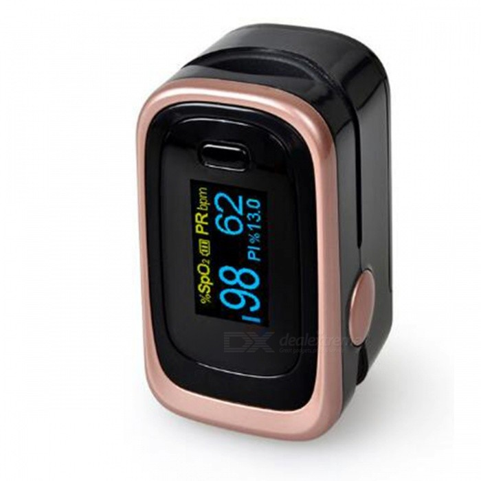 Dual Color OLED Display Finger Pulse Oximeter with 4 Parameter 8 Hours Date Record, Data Analysis, Sleep Monitoring