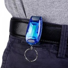 CTSmart Multi-Function Outdoor Riding Night Running Warning Light Keychain - Blue