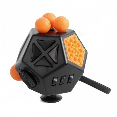 Fidget Cube Relieves Stress And Anxiety for Children and Adults 12 Faces Anxiety Attention Toy Fun Cube for ADHD