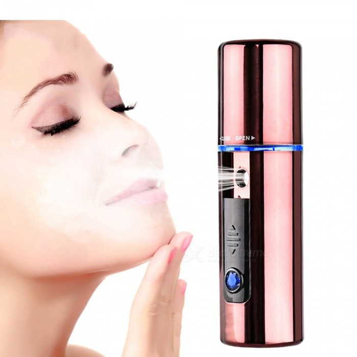 Portable USB Charging Facial Moisturizing Device Humidifier, Face Steamer - Rose GoldFacial Care<br>Form  ColorRose GoldModelKM-708MaterialABSQuantity1 DX.PCM.Model.AttributeModel.UnitShade Of ColorBrownPacking List1 x Decive1 x USB cable<br>