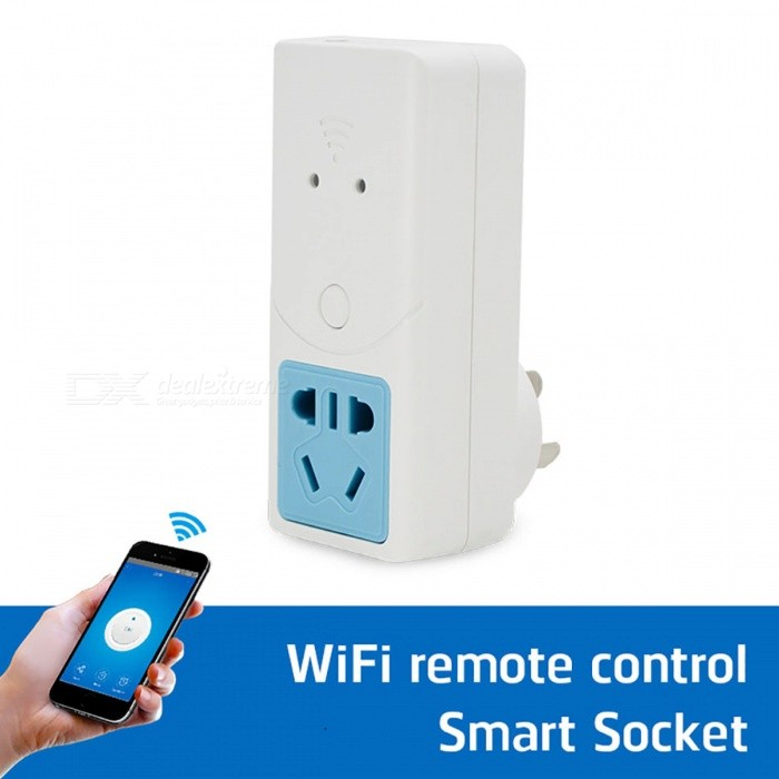 Sonoff S22 Smart Wi-Fi Wireless Power Outlet Socket - White