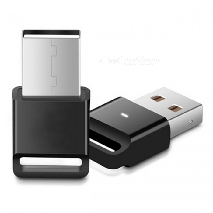 USB Bluetooth V4.0 Wireless Adapter Music Receiver for Computer PC - Black