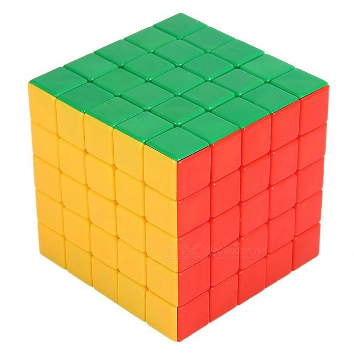 QiYi HeiManBa Speed Cube 5x5 Smooth Magic Cube Puzzles Toy - 63mm