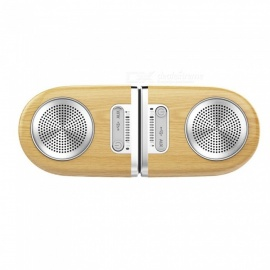 D10-Portable-Optimal-Stereo-Sound-Wireless-Bluetooth-Magnetic-Speaker-Wood-Color