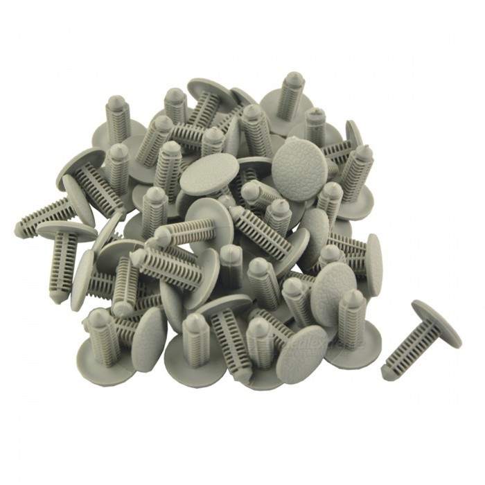 CARKING 50Pcs Auto Car 19mm Head Dia Push-in Remaches de plástico, Cierre de retenedor del panel de la puerta del coche-Gris