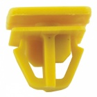 CARKING 50Pcs Car Auto Fender Rectangular Push in Plastic Rivets Fasteners - Yellow