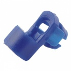 CARKING 100Pcs Car Auto Plastic 6mm Dia Hole Fastener Door Lock Rod End Clamps - Dark Blue